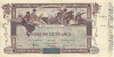 LE BILLET 5000 FRANCS FLAMENG