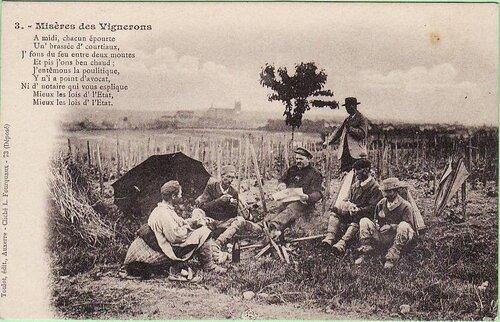 Misères des vignerons