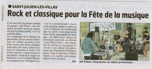 Joli Falzar dans le journal !