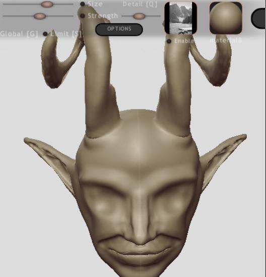 • Essai de sculpture 3D