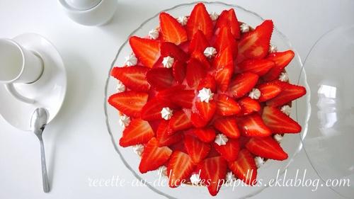 Recette tarte aux fraises revisiter saveur d'orient