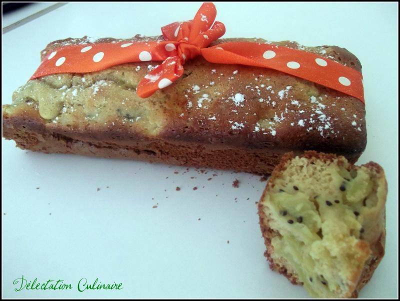 Cake aux kiwis et à la vanille sans beurre :)