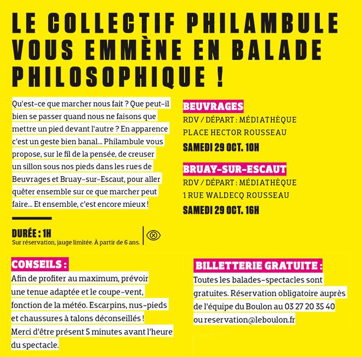 Balade philosophique, avec Le Boulon