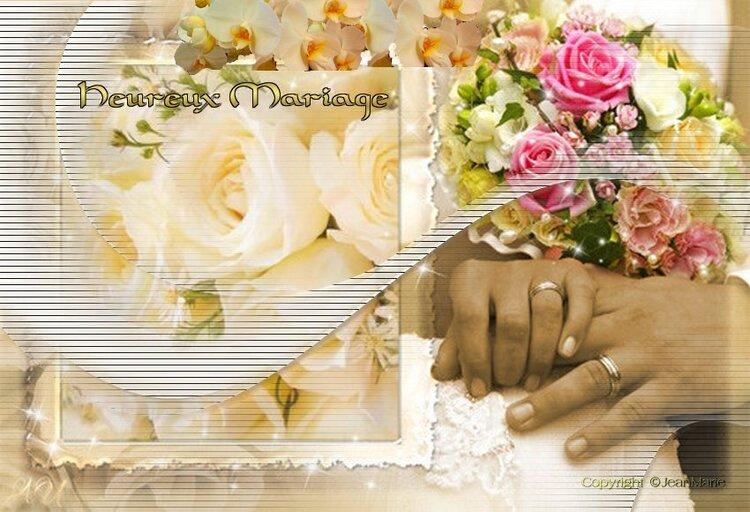 Meilleurs vœux de Mariage(carte gratuite) servez vous c'est cadeau (c'est cadeau)