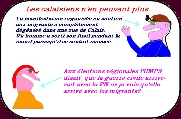 Des nouvelles de Calais et des migrants, grève des fonctionnaires etc.. ce sont les infos du lundi.