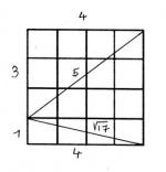 Spirale de Théodore et polygone gnomonique de rang 4