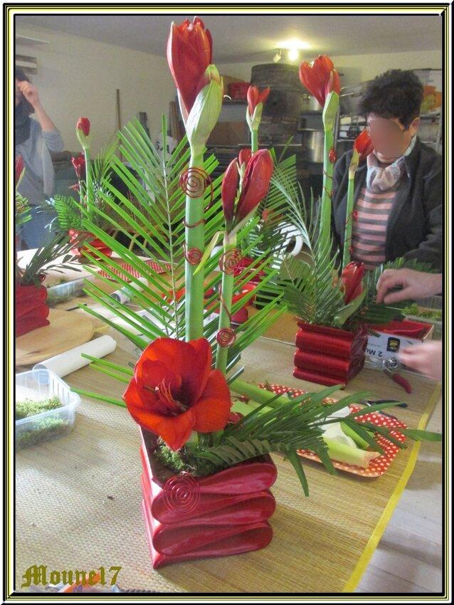 Cours d'Art floral du mois de janvier