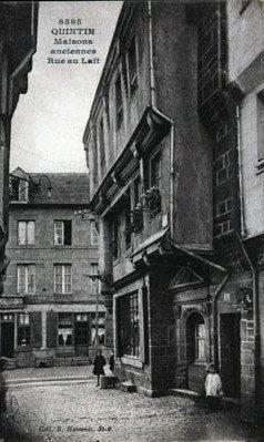 cartes-postales-photos-Maisons-Anciennes--Rue-au-Lait-QUINT