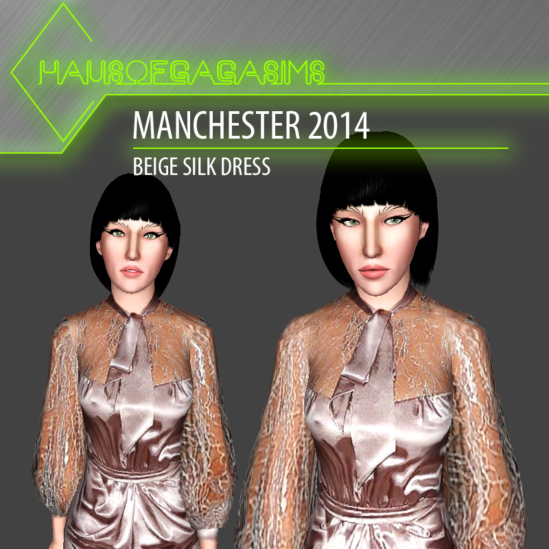 MANCHESTER 2014 BEIGE SILK DRESS