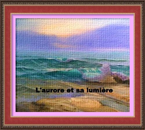 Dessin et peinture -  vidéo 2989 : Comment peindre les premières lueurs de l'aurore sur la mer 2 ? - acrylique ou huile.