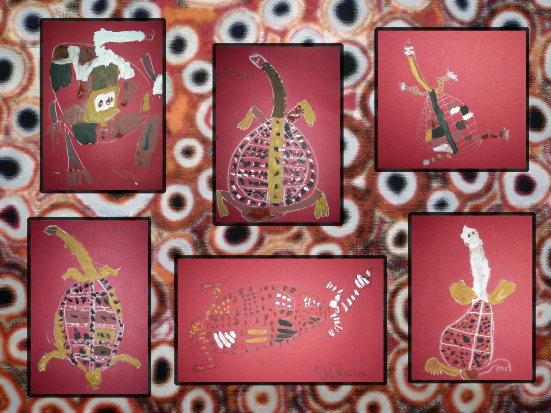 L 39 art aborig ne atelier d 39 arts plastiques pour enfants - L atelier des rouges ...