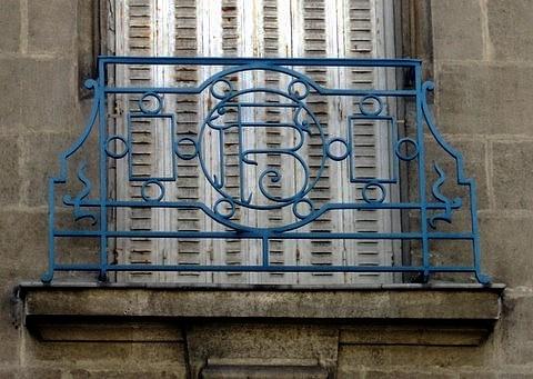 Balcon ancienne Banque de France St Nazaire