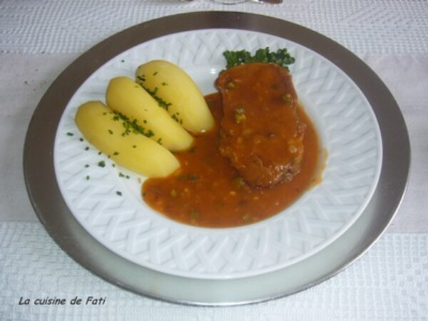 Langue de boeuf sauce diable