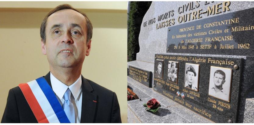 Béziers : Ménard s'incline devant une stèle glorifiant l'OAS