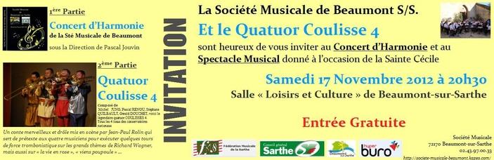 Invitation Ste Cécile 2012