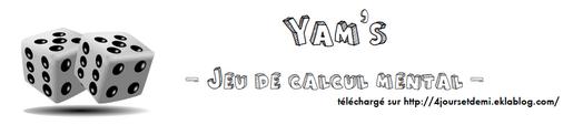 Jeux mathématiques - Yam's