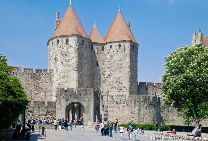 Carcassonne, porte Narbonnaise (Aude)