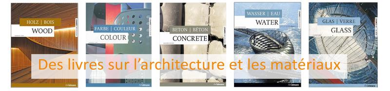 Des livres sur l'architecture et les matériaux
