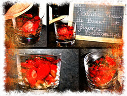 Salade de coeur de boeuf et fraises balsamique