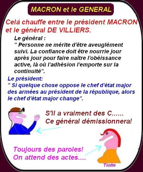 Macron et son général, étudiants, migrants, etc...ce sont les infos du lundi