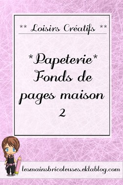 *Papéterie* Fonds de pages Maison 2