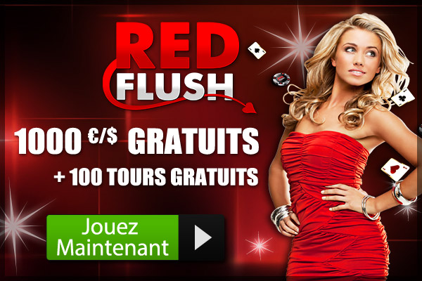 Red Flush Online Casino and get your exclusive welcome package of $/€ 1000 free + 100 Free Spins