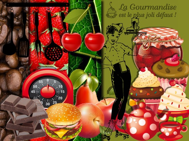 "Kit Digiscrap ""Gourmandise"""