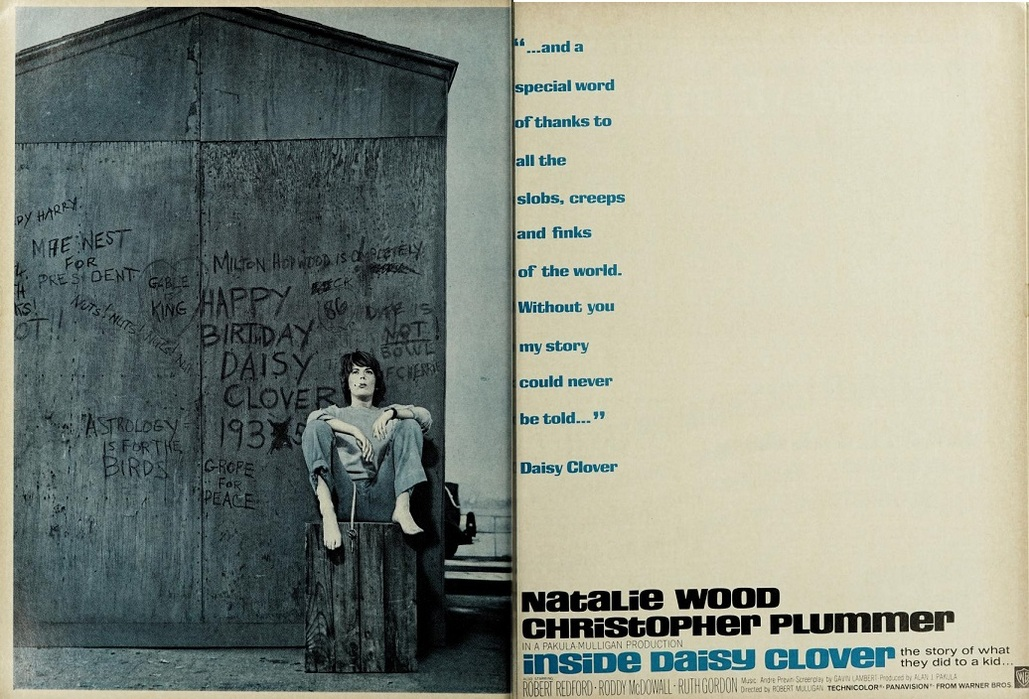 INSIDE DAISY CLOVER BOX OFFICE USA 1966