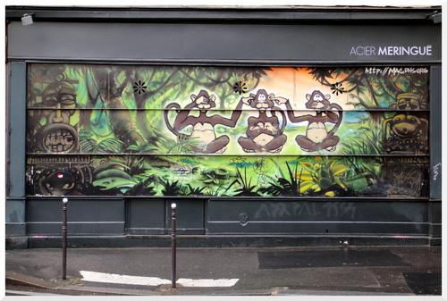Version parisienne de la théorie des 3 singes
