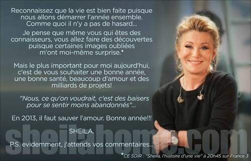 Message de Sheila - 02/01/2013