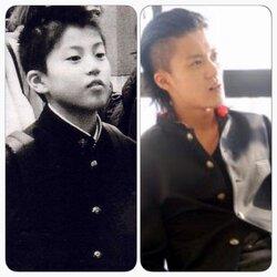 La famille de Shun Oguri (enfant)