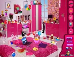 Pink bedroom - Hidden objects