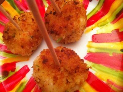 Boulettes de crevettes frites à la citronnelle