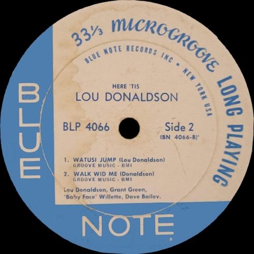 """Lou Donaldson : Album """" Here 'Tis """" Blue Note Records BLP 4066 [ US ]"""