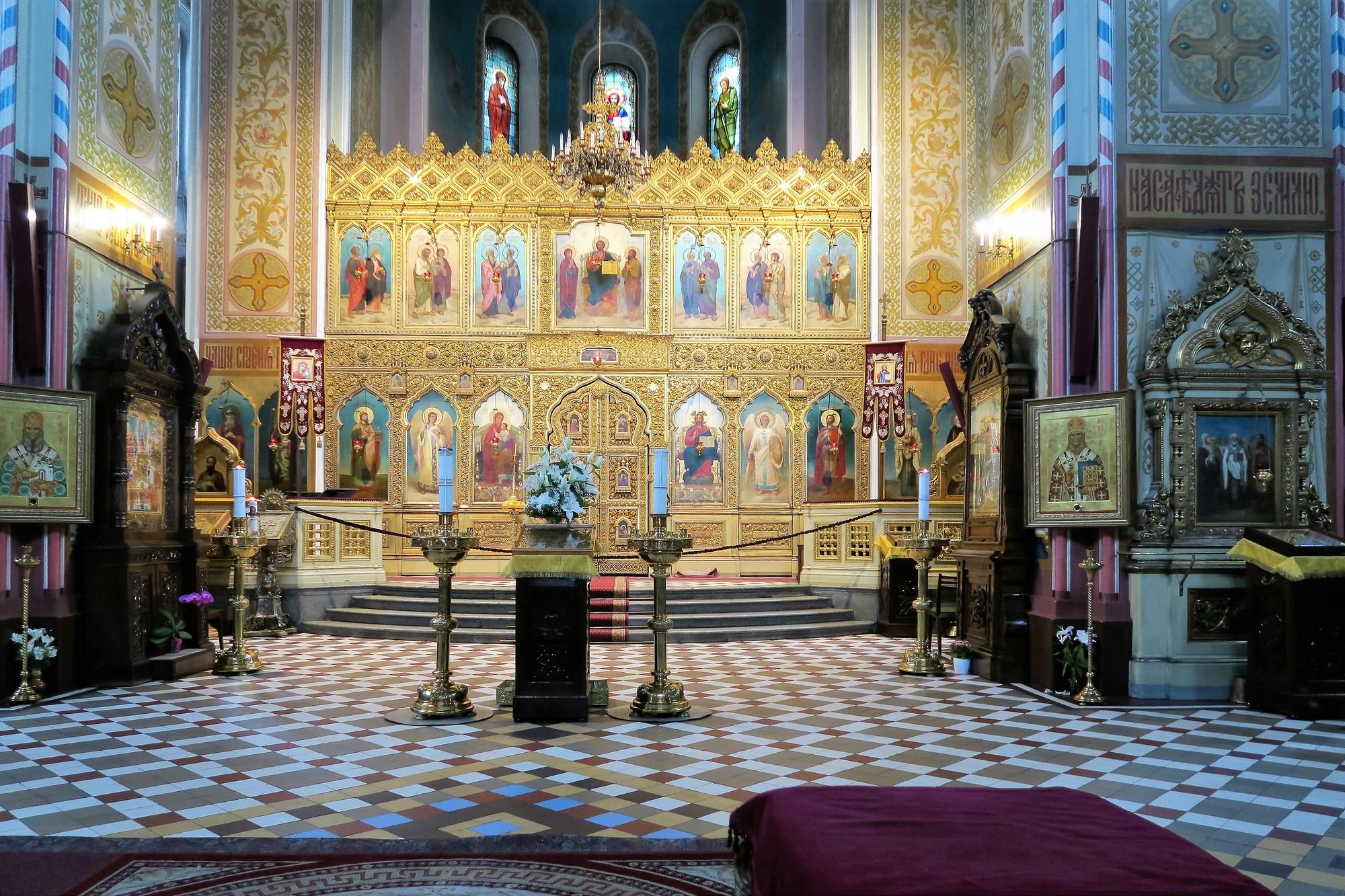 TALLINN (EST) [2] Intérieur Cathédrale orthodoxe Alexandre-Nevski
