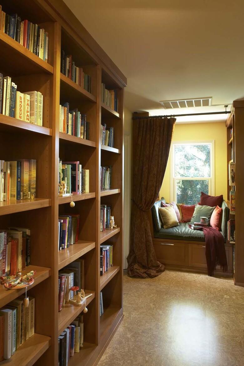 petit coin pour lire zen bibliothèque maison