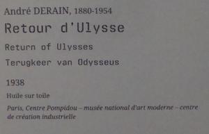 André Derain, le retour d'Ulysse.