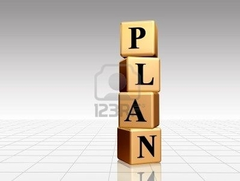 2712110-plan--golden-boxes-with-black-letters-over-white-grey-background