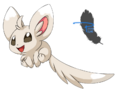 Render Pokemon - Renders Pokemon Chiramii Chinchilla 5G cinquieme generation joyeux sourire