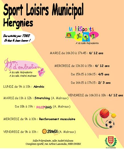 Gym et sports loisirs pour tous, reprise à Hergnies