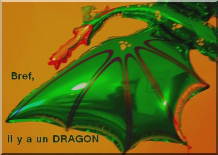 Bref, il y a un dragon qui vole dans le salon