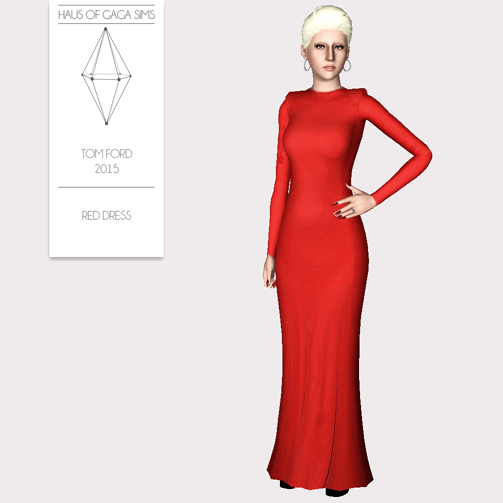 TOM FORD 2015 RED DRESS