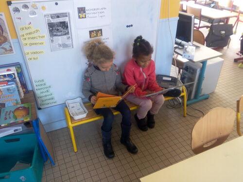 La lecture libre en classe.