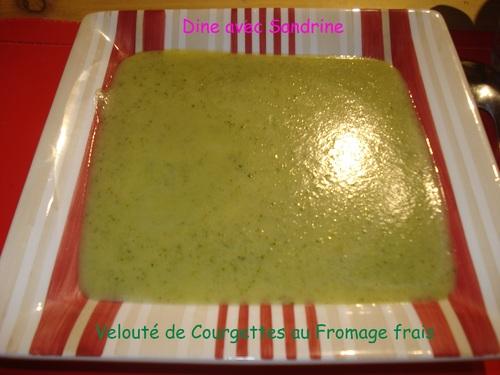 Un Velouté de Courgettes au Fromage frais