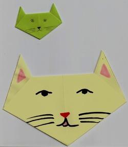 Origami tête de chat