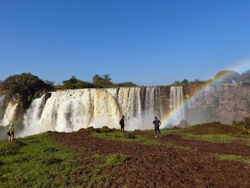 les chutes du Nil bleu au lever du soleil
