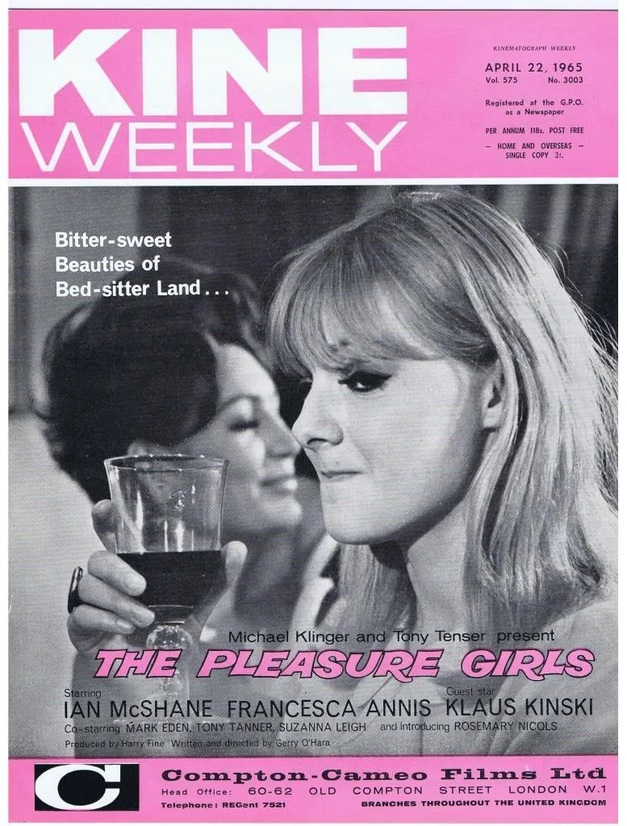 THE PLEASURE GIRLS BOX OFFICE USA 1966
