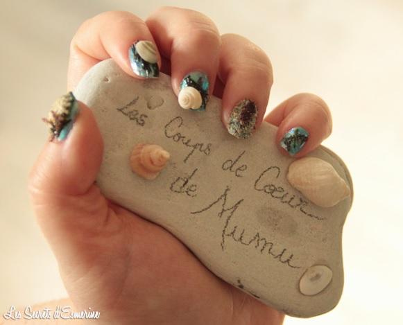 été, plage, Nail Art, concours, Blog, Les Coups de Coeur de Mumu