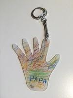 Porte-clef plastique - Fête des pères 2016