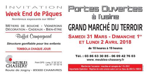 Grand marché du terroir Chamvres (89) 31 mars au 2 avril